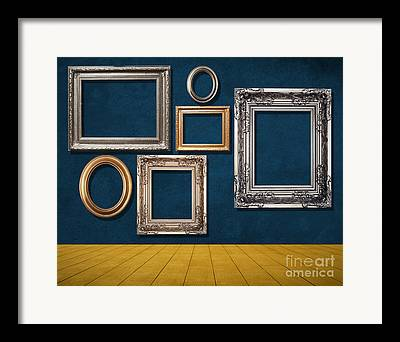 Wooden Stairs Mixed Media Framed Prints