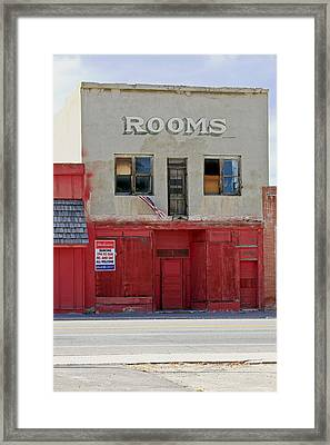 Rooms And A Beer Sign Framed Print by James Steele