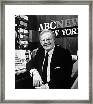 Roone Arledge, President Of Abc News & Framed Print