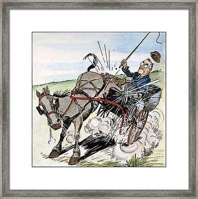 Roosevelt & Donkey, 1937 Framed Print by Granger