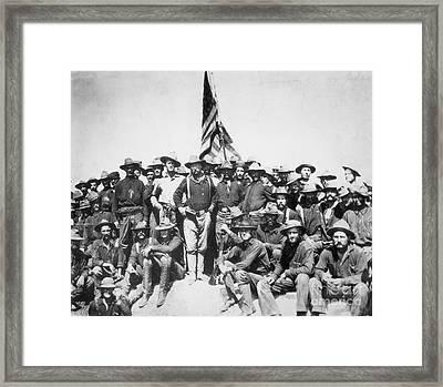 Roosevelt & Rough Riders Framed Print