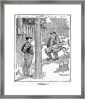 Roosevelt Cartoon, 1900s Framed Print by Granger