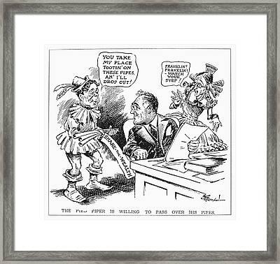 Roosevelt Cartoon, 1934 Framed Print by Granger