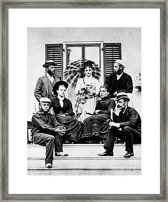 Roosevelt Family 1878 Framed Print by Granger