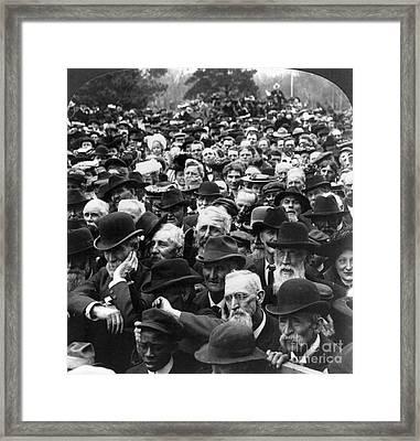 Roosevelt Speech, 1903 Framed Print by Granger