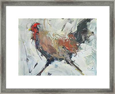 Rooster Art  Framed Print
