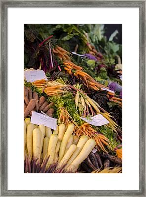 Root Vegetables At The Market Framed Print