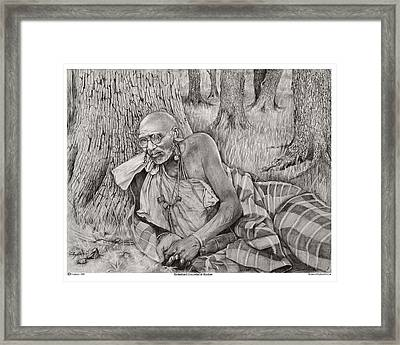 Rooted And Grounded Framed Print by Raymond Burton