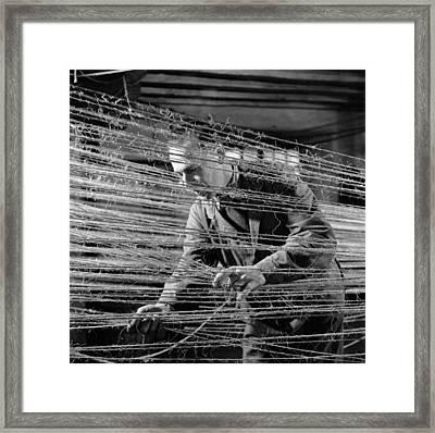 Ropery Worker Framed Print by John Drysdale