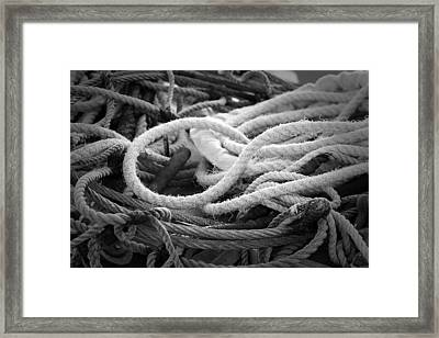 Ropes Framed Print by Eric Gendron