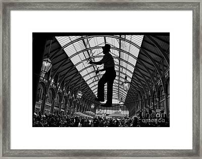 Ropewalker In Covent Garden Framed Print by Aldo Cervato