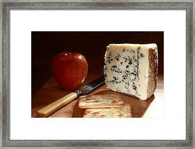 Roquefort And Apple Low Angle Framed Print