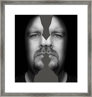Rorschach Man Framed Print by Semmick Photo