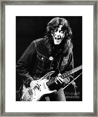 Rory Gallagher 1971 Framed Print by Chris Walter