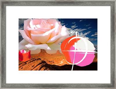 Rosa Desert Crucio Framed Print by Geronimo