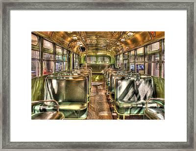 Rosa Parks Bus Inside Dearborn Mi Framed Print by Nicholas  Grunas