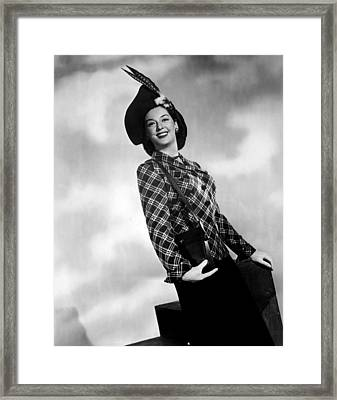 Rosalind Russell, Ca. Early 1940s Framed Print by Everett