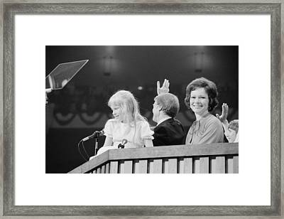 Rosalynn Amy And Jimmy Carter Framed Print by Everett