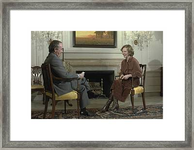 Rosalynn Carter During A White House Framed Print by Everett