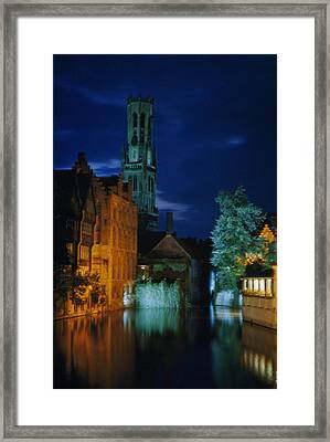 Rosary Quay Is Illuminated With Colored Framed Print by Luis Marden