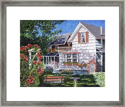Rosa's Garden Framed Print by Paul Gardner