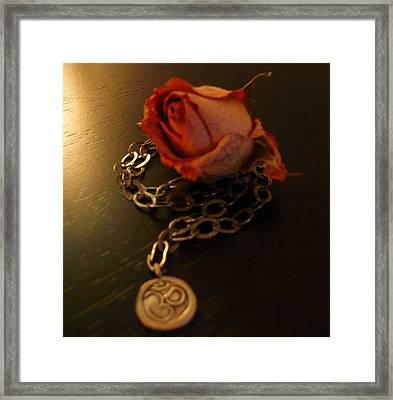 Rose And Om Framed Print by Debra Jacobson