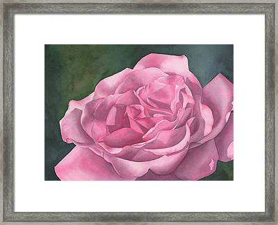 Rose Blush Framed Print by Leona Jones