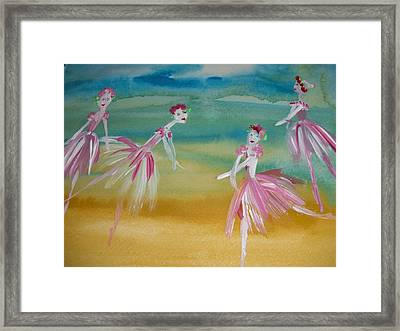 Rose Bud Ballet Framed Print