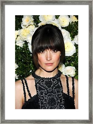 Rose Byrne At Arrivals For Chanel 6th Framed Print