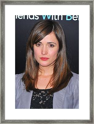 Rose Byrne At Arrivals For Friends With Framed Print by Everett
