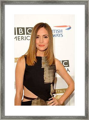 Rose Byrne In Gucci At Arrivals For 8th Framed Print by Everett