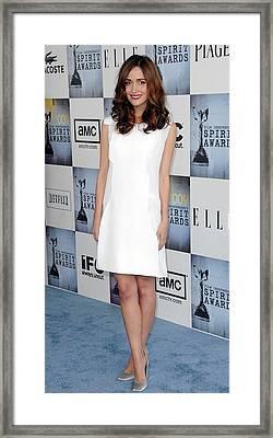 Rose Byrne Wearing A Calvin Klein Dress Framed Print by Everett