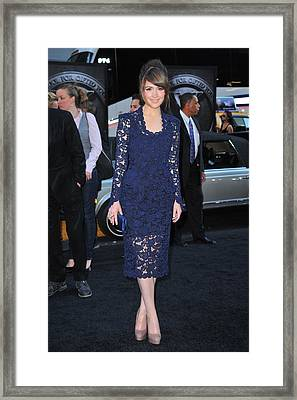 Rose Byrne Wearing A Marc Jacobs Dress Framed Print