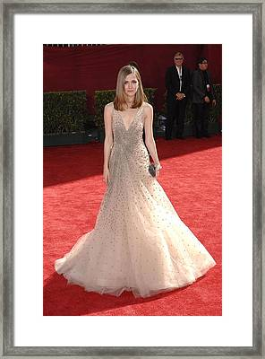 Rose Byrne Wearing A Valentino Gown Framed Print