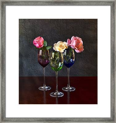 Rose Colored Glasses Framed Print by Peter Chilelli