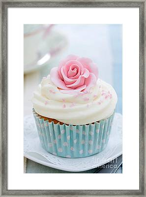 Rose Cupcake Framed Print by Ruth Black