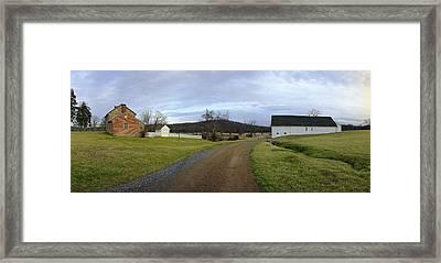 Rose Farm Buildings Framed Print by Jan W Faul