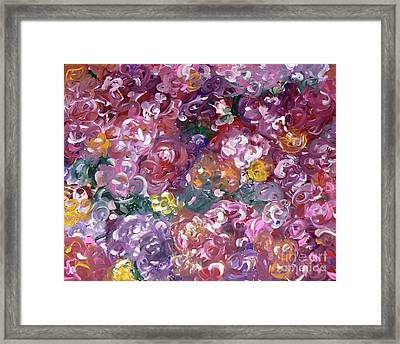 Framed Print featuring the painting Rose Festival by Alys Caviness-Gober