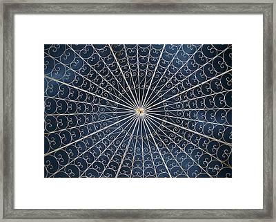 Rose Garden Gazebo Framed Print by Stephen  Johnson