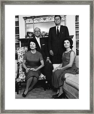 Rose Kennedy, Joseph P. Kennedy, John Framed Print by Everett