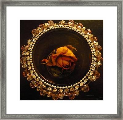 Rose Mandala Framed Print by Debra Jacobson