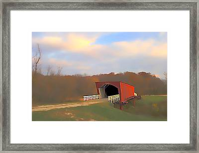 Roseman Bridge Of Clint Eastwood Fame Framed Print by Randall Branham