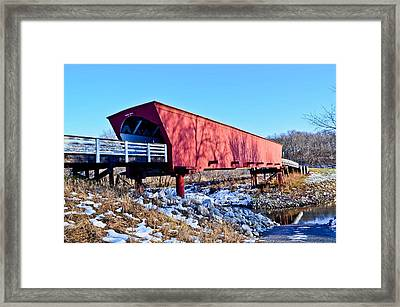 Roseman Covered Bridge Framed Print by Julio n Brenda JnB