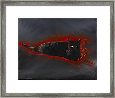 Rosemary Our Cat Framed Print