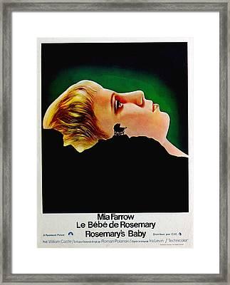 Rosemarys Baby, Aka Le Bebe De Framed Print by Everett