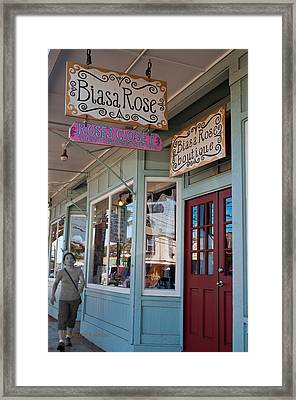 Rose's Closet - Paia Framed Print by Paulette B Wright