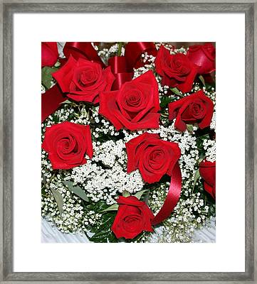 Roses Framed Print by Denise Moore