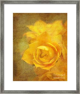 Roses For Remembrance Framed Print by Judi Bagwell