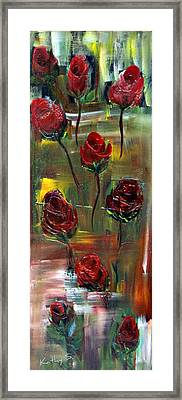 Framed Print featuring the painting Roses Free by Kathy Sheeran