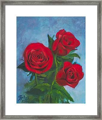 Roses Framed Print by Herman Sillas